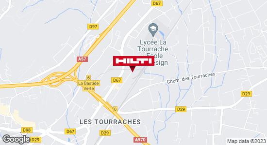 Get directions to Espace Hilti - La Plateforme du Bâtiment - Toulon / La garde (ZI Toulon Est)