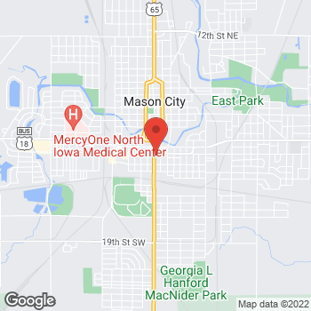 Map of Taco John's at 603 S Federal Ave, Mason City, IA 50401