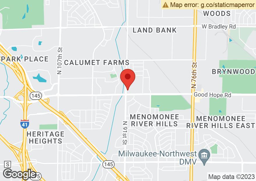 Google Map of 9040 W GOOD HOPE RD