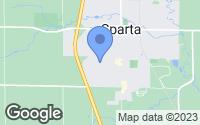 Map of Sparta, MI
