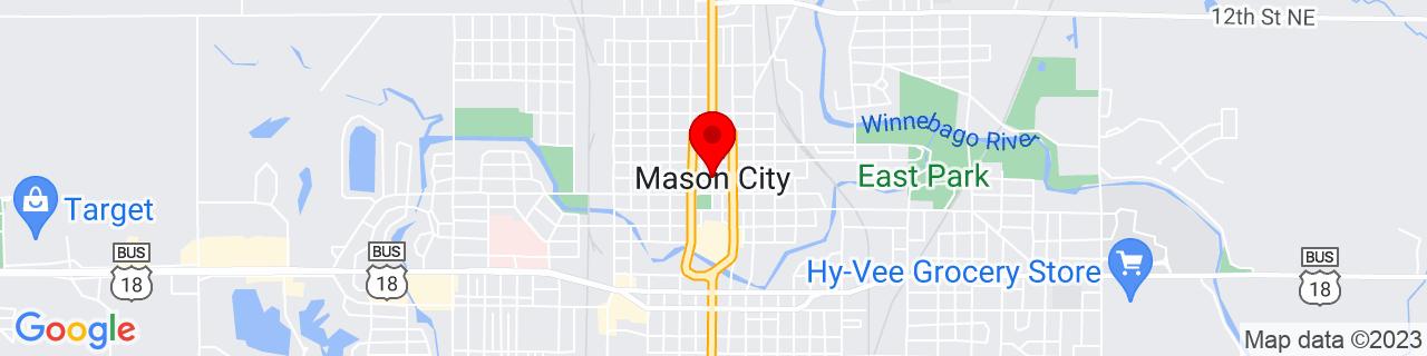 Google Map of 43.1535728, -93.20103669999999
