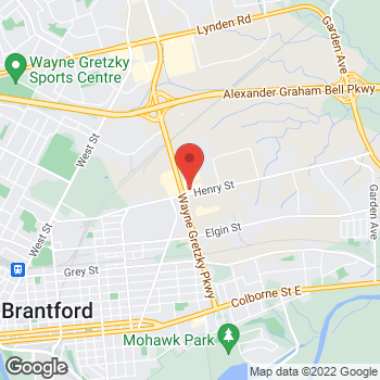 Map of Tim Hortons at 225 Henry St, Brantford, ON N3S 7R4