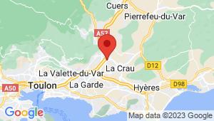 Carte de localisation du centre de contrôle technique LA FARLEDE