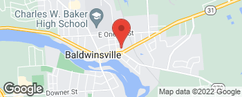 Map of 47 E Genesee St in Baldwinsville