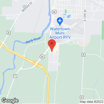 Map of Arby's at 1910 Market Way, Watertown, WI 53094-7427