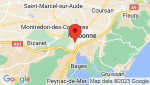 Carte de localisation du centre de contrôle technique NARBONNE