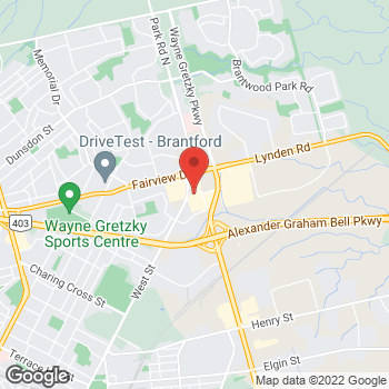 Map of Staples Print & Marketing Services at 595 West Street, Brantford, ON N3R 7C5