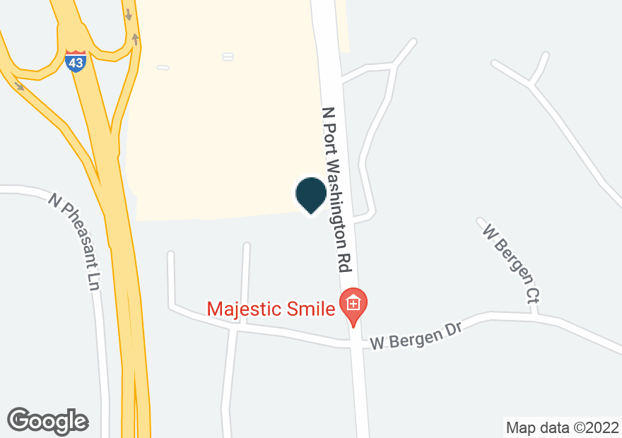 Google Map of8615 N PORT WASHINGTON RD