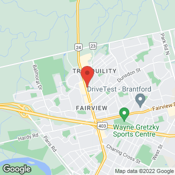 Map of Tim Hortons at 236 King George Rd, Brantford, ON N3R 5L4