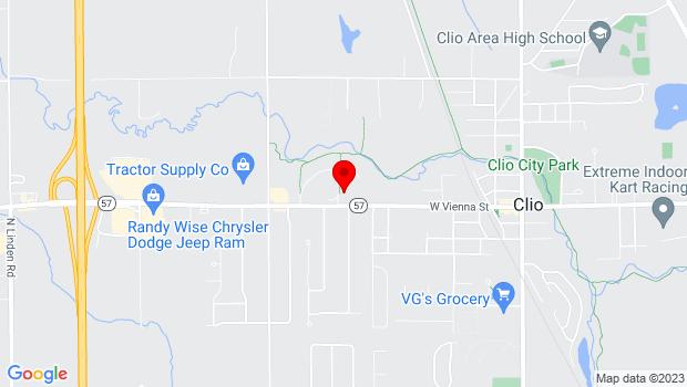 Google Map of 3370 West Vienna Road, Clio, MI 48420