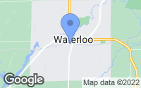 Map of Waterloo, WI