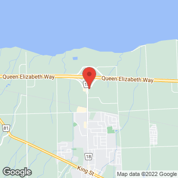Map of Tim Hortons at 4725 Ontario St, Beamsville, ON L0R 1B0