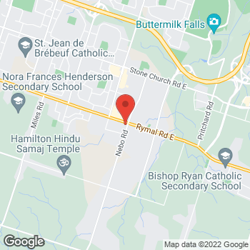 Map of Tim Hortons at 1188 Rymal Rd East, Hamilton, ON L8W 3N7