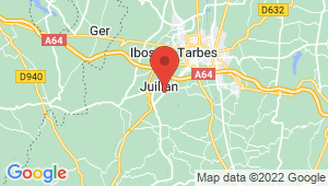 Carte de localisation du centre de contrôle technique Juillan