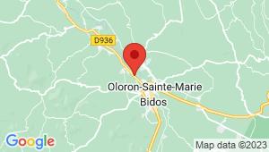 Carte de localisation du centre de contrôle technique OLORON SAINTE MARIE