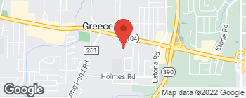 Map of 128 Greece Ridge Center Dr in Rochester