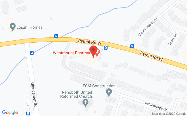 Westmount Physiotherapy & Rehabilitation Static Google Map Wide Version