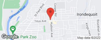 Map of 572 Titus Ave in Rochester