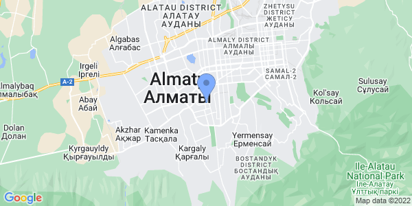 Aba Travel Kazakhstan on map