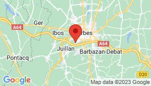 Carte de localisation du centre de contrôle technique ODOS