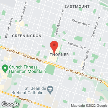 Map of GUESS at 999 Upper Wentworth Street, Hamilton, ON L9A4X5