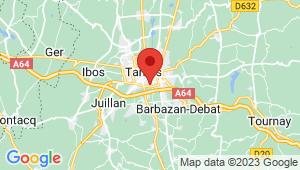 Carte de localisation du centre de contrôle technique TARBES