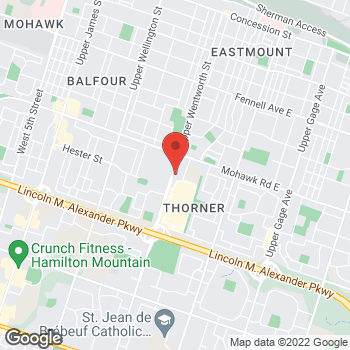 Map of Tim Hortons at 863 Upper Wentworth Rd, Hamilton, ON L9A 4W5