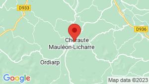 Carte de localisation du centre de contrôle technique MAULEON