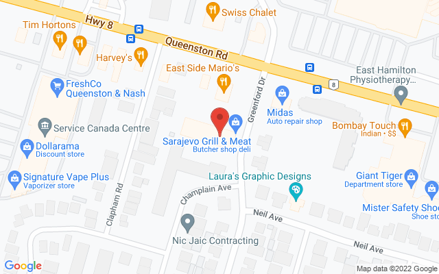 Total Physio Clinics – Queenston Static Google Map Wide Version