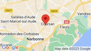 Carte de localisation du centre de contrôle technique COURSAN