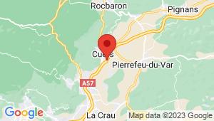 Carte de localisation du centre de contrôle technique CUERS