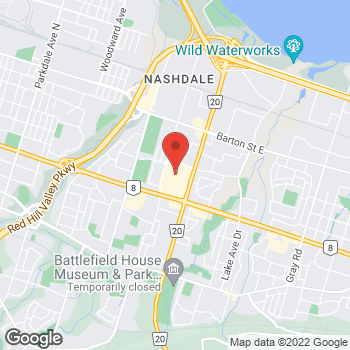 Map of LensCrafters at 75 Centennial Parkway N, Stoney Creek, ON L8E 2P2