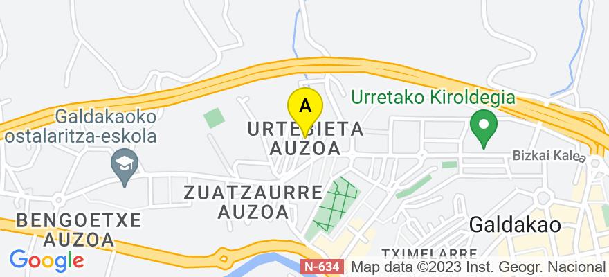 situacion en el mapa de . Direccion: b/ urtebieta, 48960 Galdakao. Vizcaya