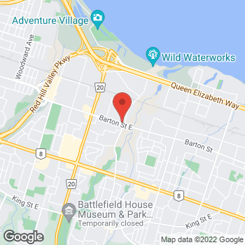 Map of Tim Hortons at 2585 Barton St, Hamilton, ON L8E 2X2