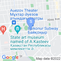 Location of Astana International on map