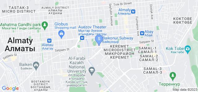 Location of Astana International on map