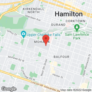 Map of Tim Hortons at 135 Fennell Ave W, Hamilton, ON L8N 3T2