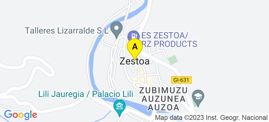 situacion en el mapa de . Direccion: Toribio Alzaga, 12 bajo, 20740 Zestoa. Guipúzcoa