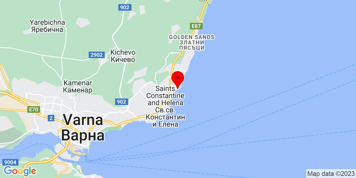 Google Map of 43.24608537239778, 28.024418468333028