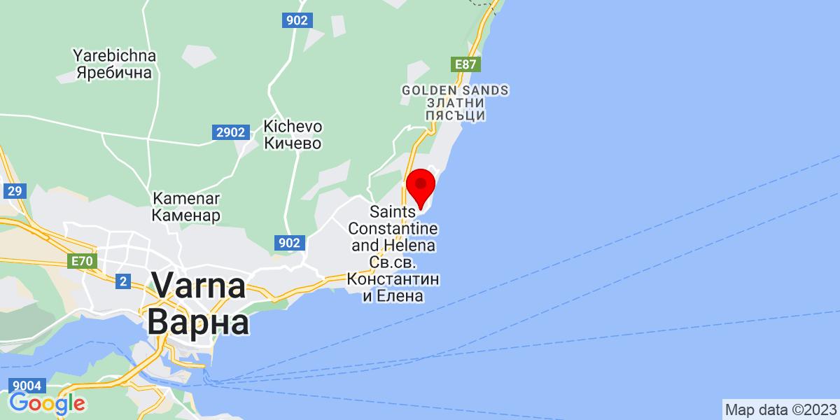 Google Map of 43.24700309661958, 28.02357105241948