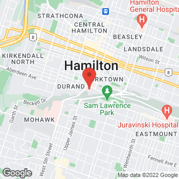 Map of Tim Hortons at Fontbonne Building - 24 Mountwood Ave, Hamilton, ON L8N 4A6