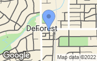 Map of DeForest, WI