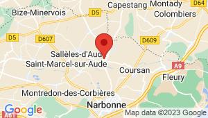 Carte de localisation du centre de contrôle technique CUXAC D AUDE