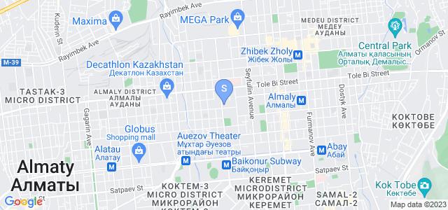 Расположение гостиницы Голден Палас на карте
