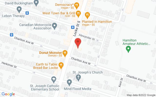Thrive Physio Static Google Map Wide Version