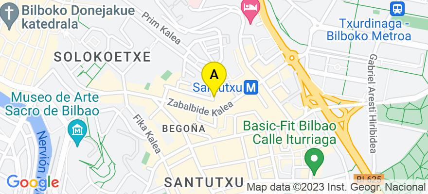 situacion en el mapa de . Direccion: CALLE ITURRIBIDE 91- BAJOS, 48.006 Bilbao. Vizcaya