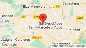 Carte de localisation du centre de contrôle technique SAINT MARCEL SUR AUDE