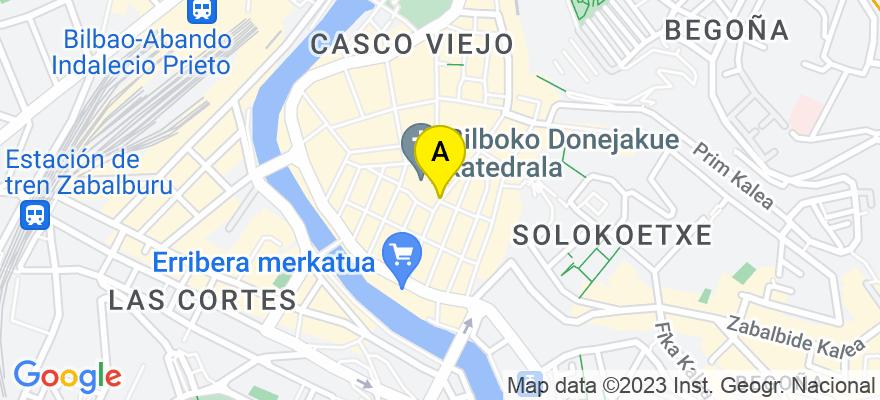 situacion en el mapa de . Direccion: Padre Lojendio, 5 - 2º derecha, 48008 Bilbao. Vizcaya