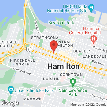 Map of Tim Hortons at 239 King Stw, Hamilton, ON L8P 1A7