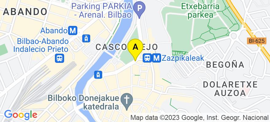 situacion en el mapa de . Direccion: Calle Arenal nº 5, 4º Dpto 404, 48005 Bilbao. Vizcaya